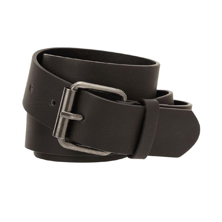 H&H Men's PU Belt, Black, hi-res image number null