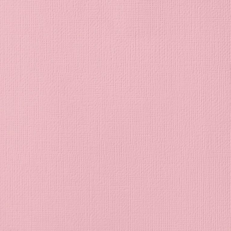 American Crafts Cardstock Textured Blush Pink 12in x 12in, , hi-res