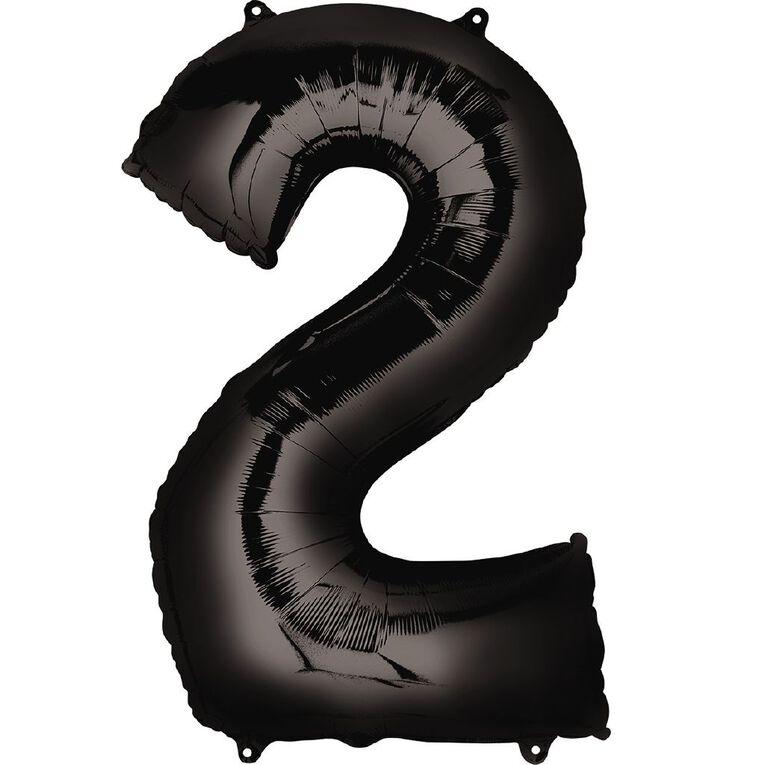 Anagram #2 Foil Balloon Supershape 36in Black, , hi-res