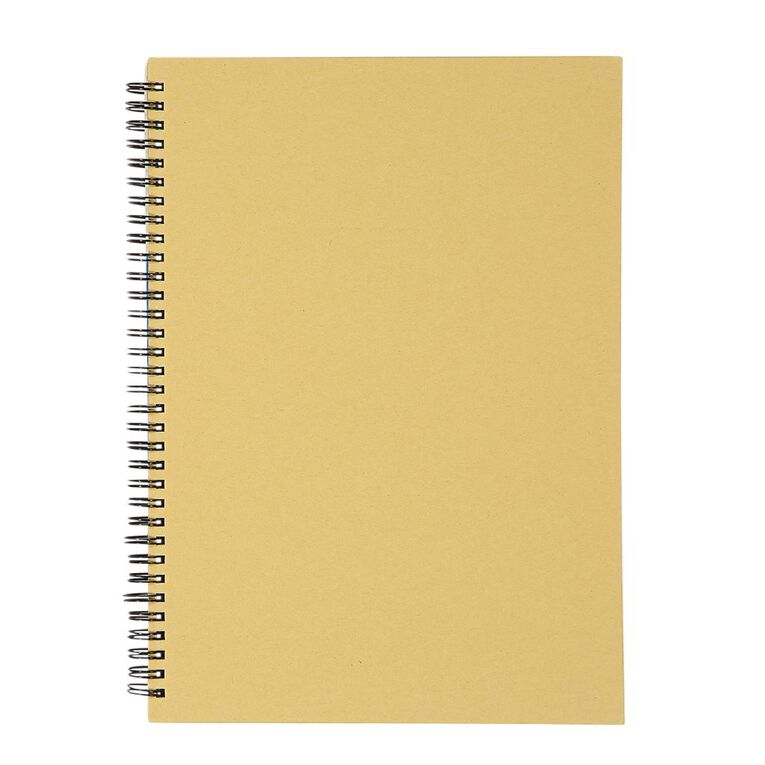 WS Notebook Wiro Kraft 200 Page A4, , hi-res