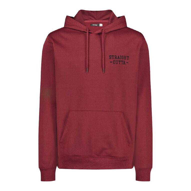 Garage Men's Hooded Fresh Sweatshirt, Maroon, hi-res