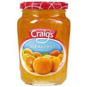 Craig's Breakfast Marmalade 375g