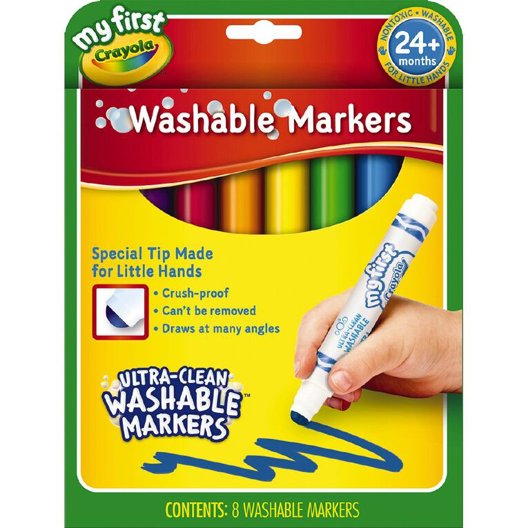 Crayola My First Washable Round Nib Markers 8 Pack, , hi-res