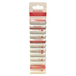 Necessities Brand Alkaline Batteries LR6 AA 12 Pack