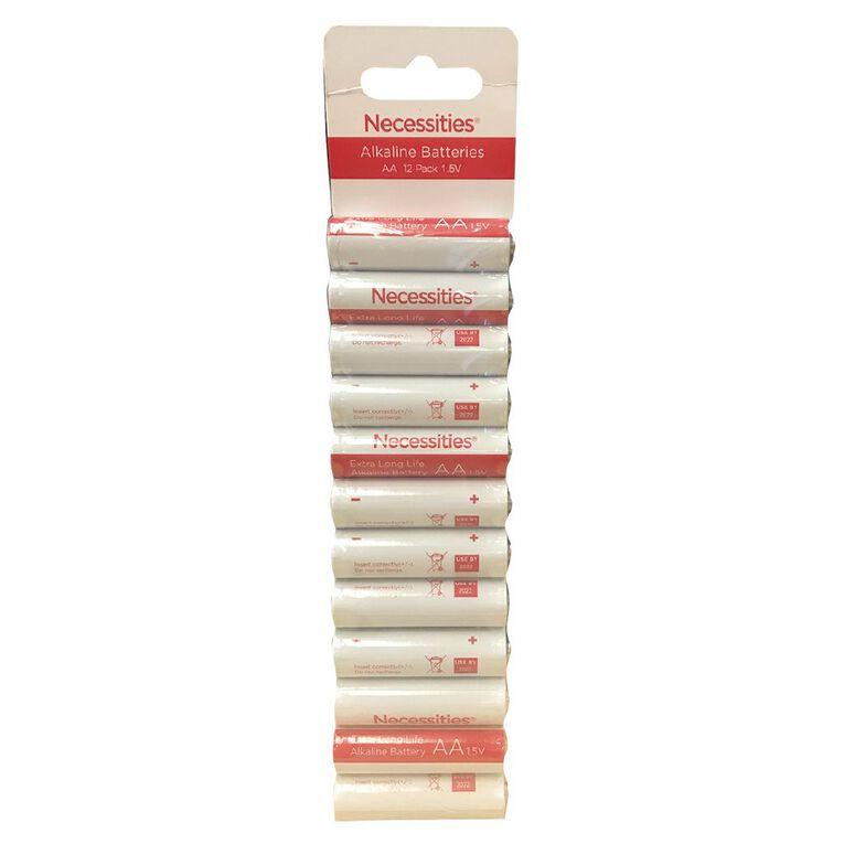 Necessities Brand AA LR6 Alkaline 12 Pack, , hi-res