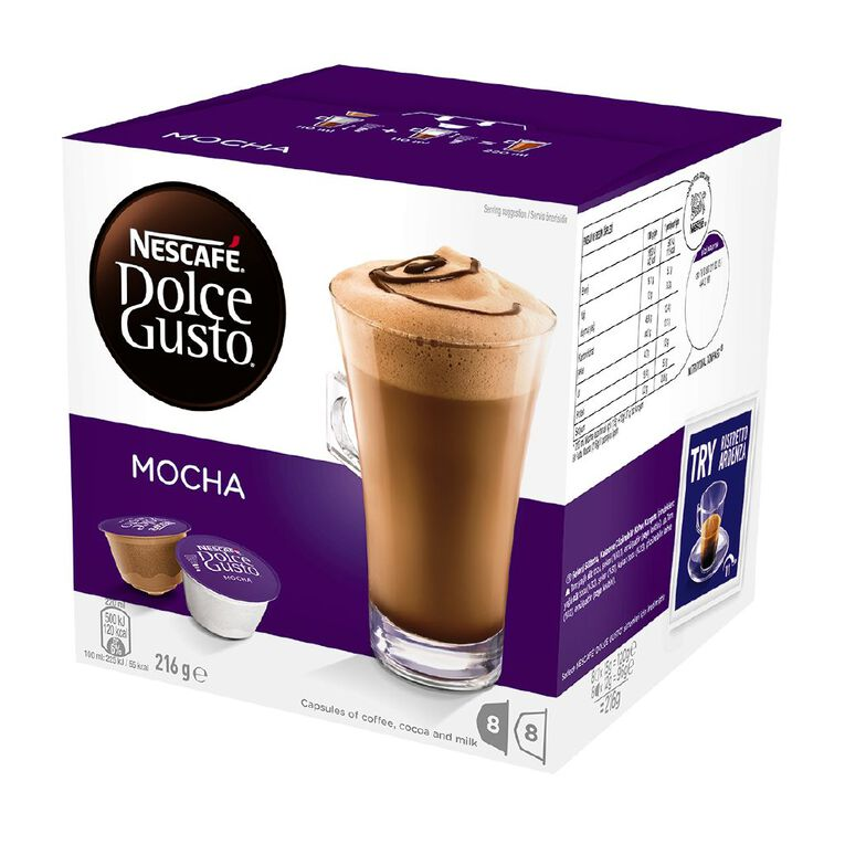 Nescafe Dolce Gusto Capsules Mocha 8 Pack, , hi-res