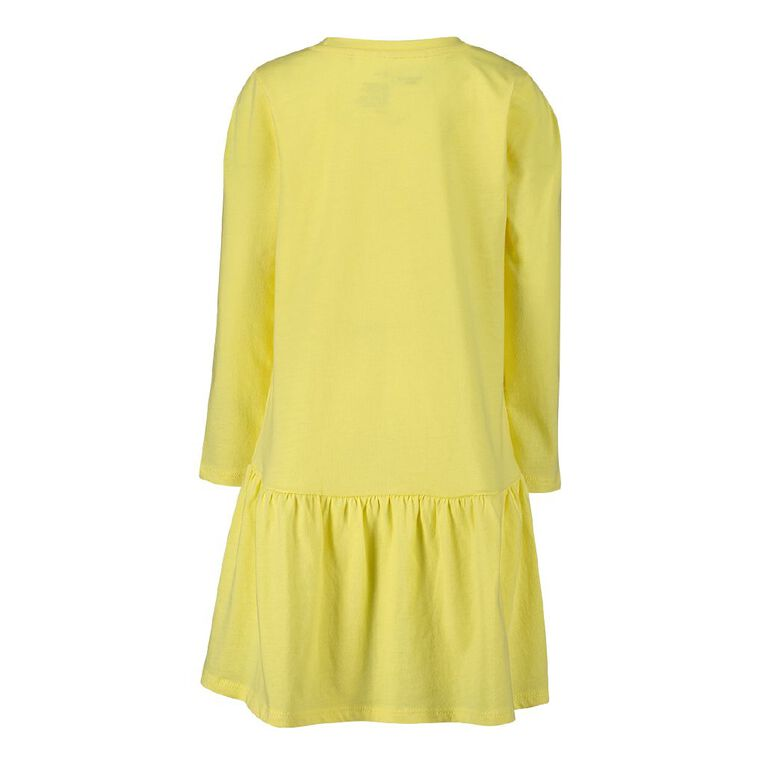 Minnie Mouse Disney Long Sleeve Frill Print Dress, Yellow, hi-res image number null