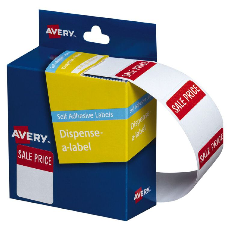Avery Sale Price Dispenser Labels 30x24mm 400 Labels, , hi-res