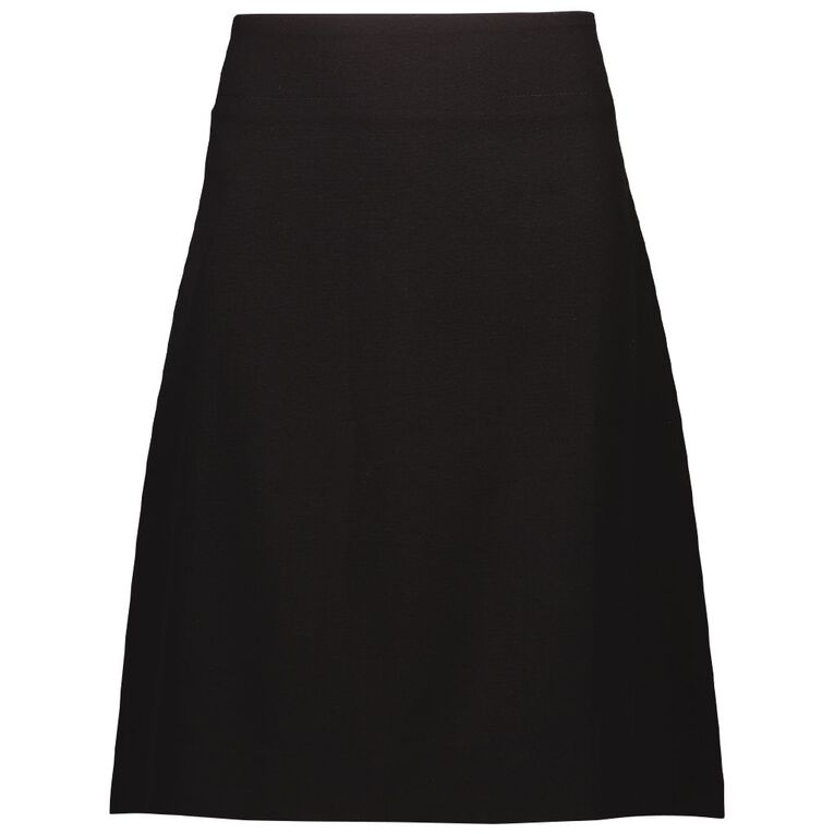 Schooltex Whangarei Girls' High Skirt with Embroidery, Black, hi-res