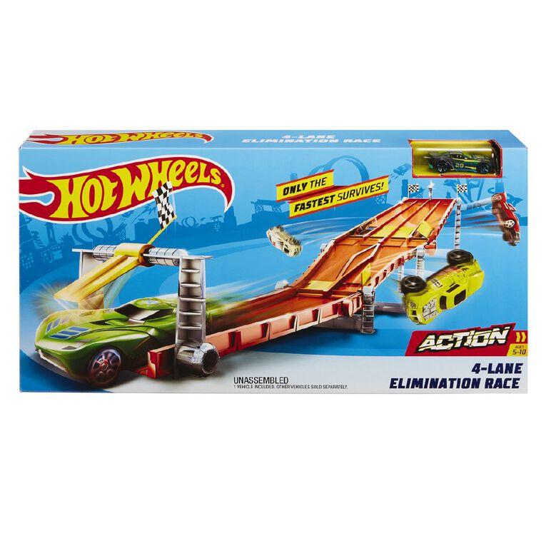 Hot Wheels 4 Lane Raceway Trackset, , hi-res