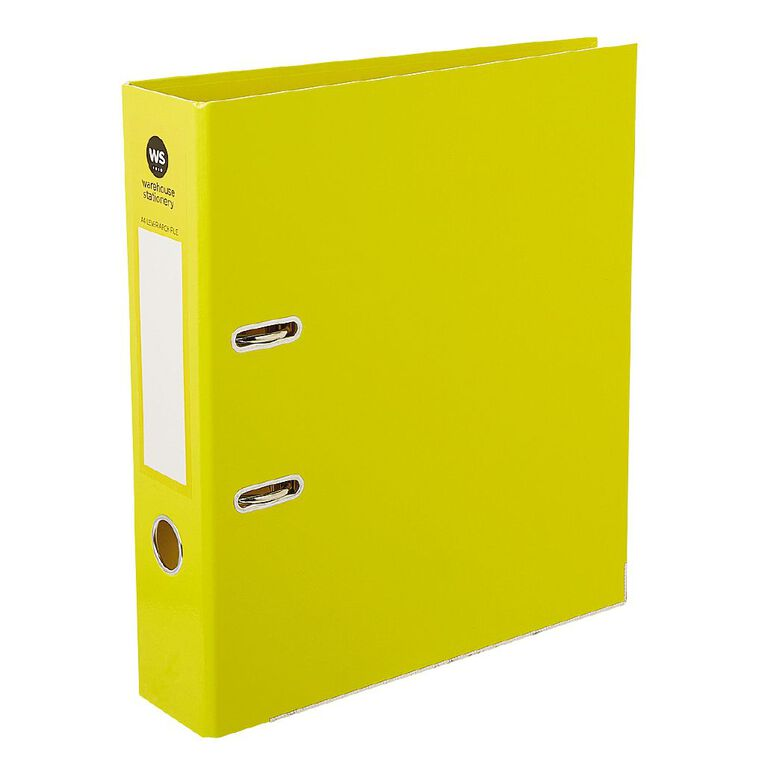 WS Lever-Arch Yellow A4, , hi-res