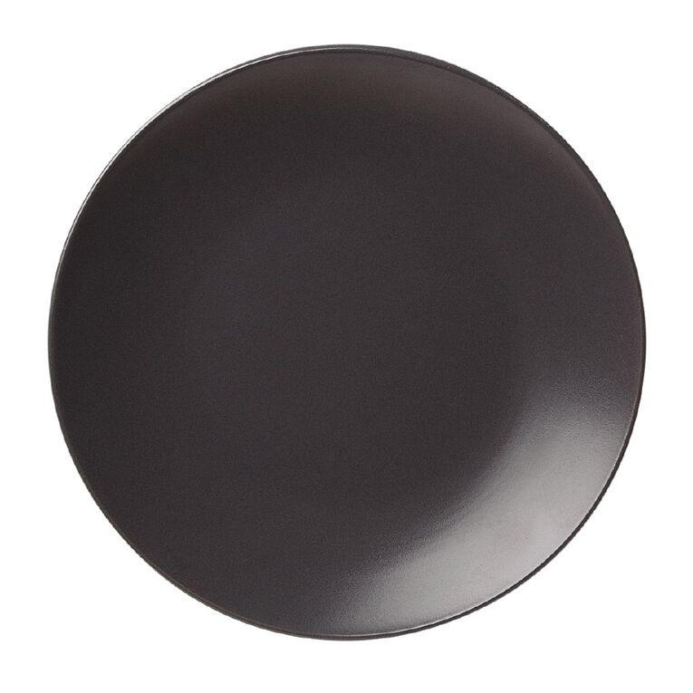 Living & Co Matte Coast Side Plate Charcoal 20cm, , hi-res