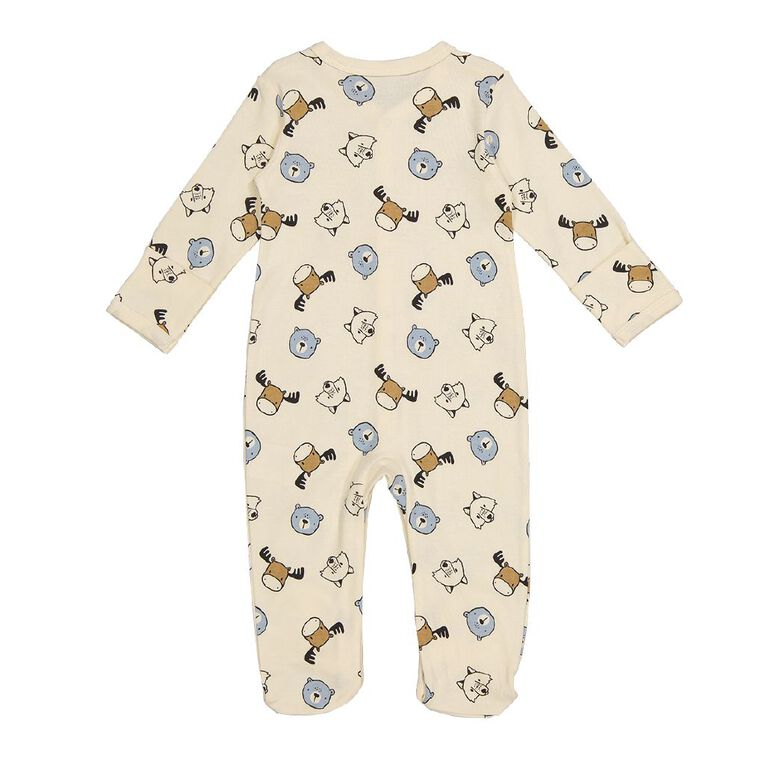 Young Original Baby Domed All In One, Cream, hi-res