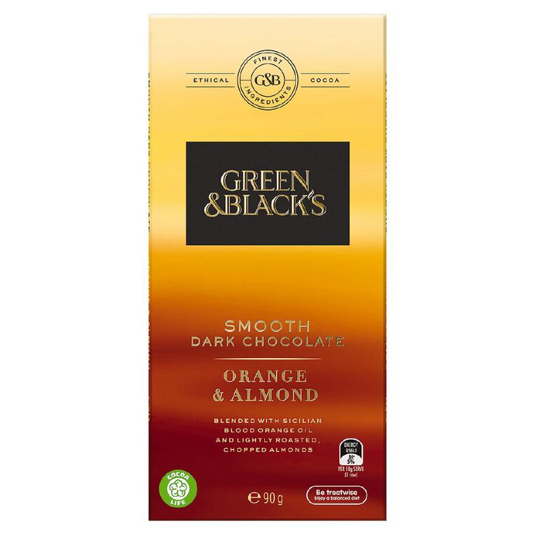 Green & Black's Velvet Edition Dark Orange & Almond 90g, , hi-res