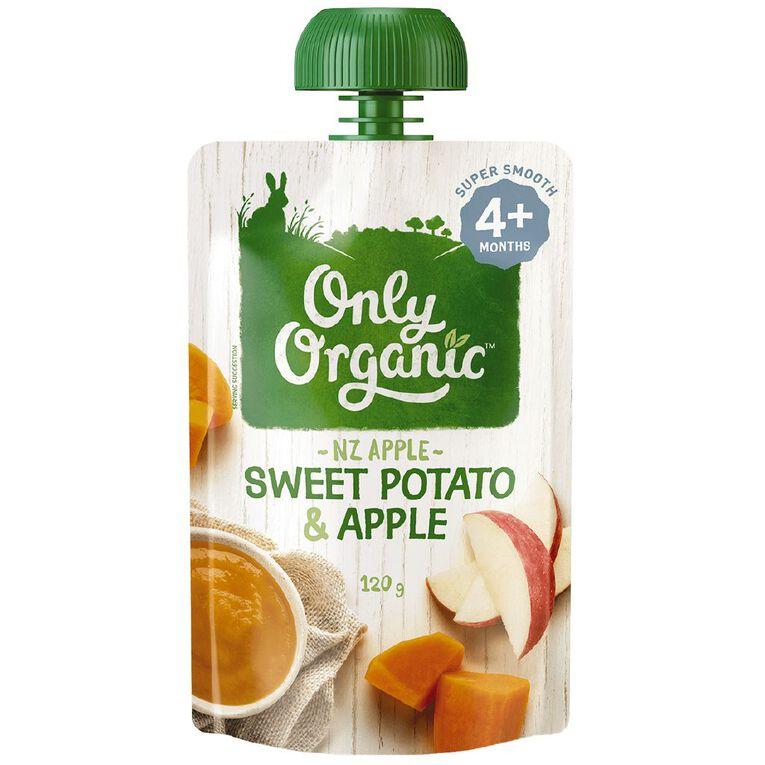 Only Organic Sweet Potato & Apple 120g, , hi-res