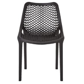 Living & Co Resin Vento Dining Chair Black