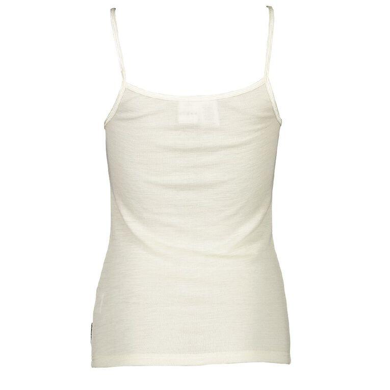 H&H Women's 100% Merino Wool Thermal Singlet, White, hi-res