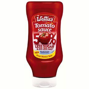 Wattie's Tomato Sauce 50% Less Sugar Upside Down 540g
