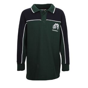 Schooltex Highfield Long Sleeve Polo with Embroidery