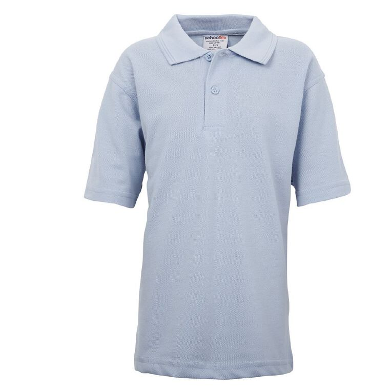 Schooltex Kids' Pique Polo, Powder Blue, hi-res