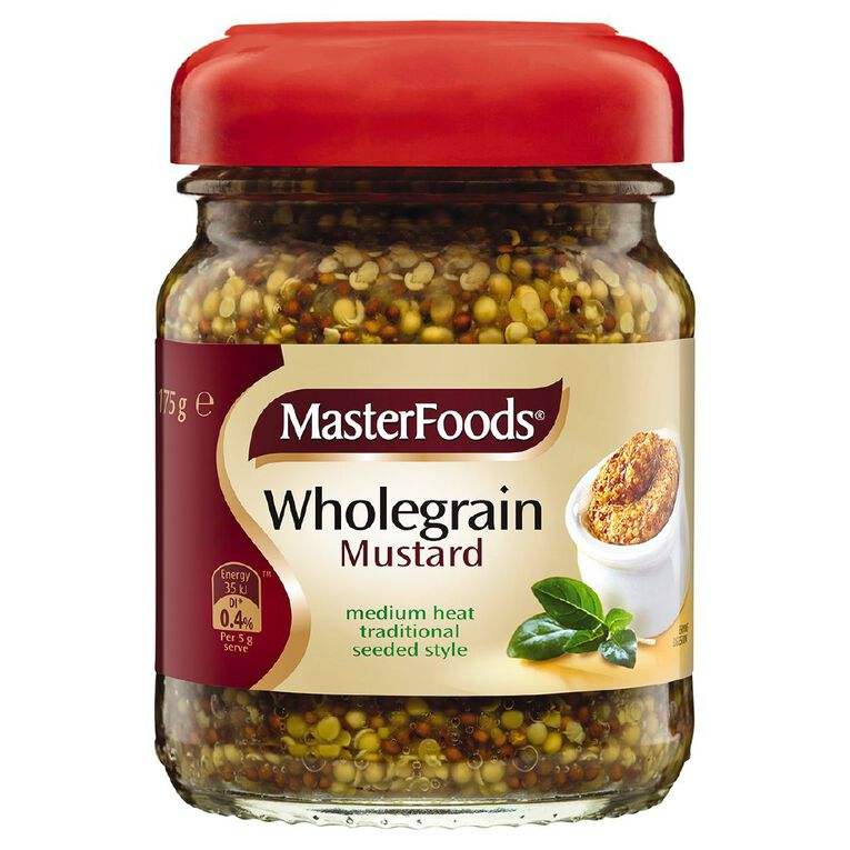 MasterFoods Wholegrain Mustard 175g, , hi-res