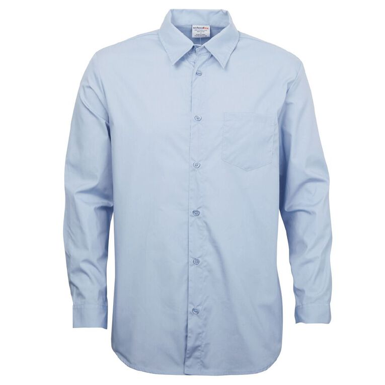 Schooltex Long Sleeve School Shirt, Blue, hi-res