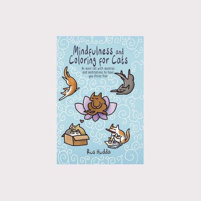Mindfulness and Coloring for Cats: Be More Cat by Rus Hudda, , hi-res