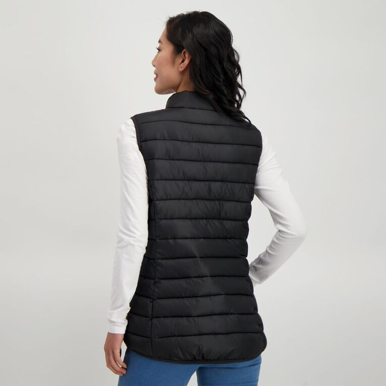 H&H Puffer Vest, Black, hi-res