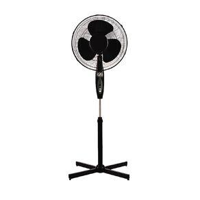 Living & Co Pedestal Fan with Timer 40cm Black