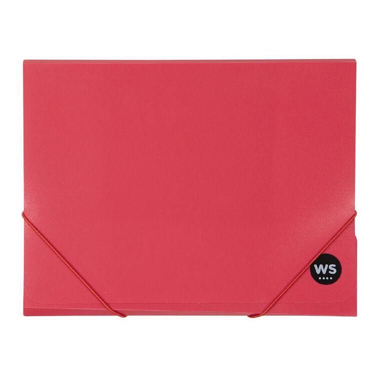 WS Wallet PP Elastic Red A4, , hi-res