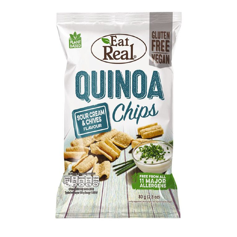 Eat Real Eat Real Quinoa Chips Sour Cream & Chives 80g, , hi-res