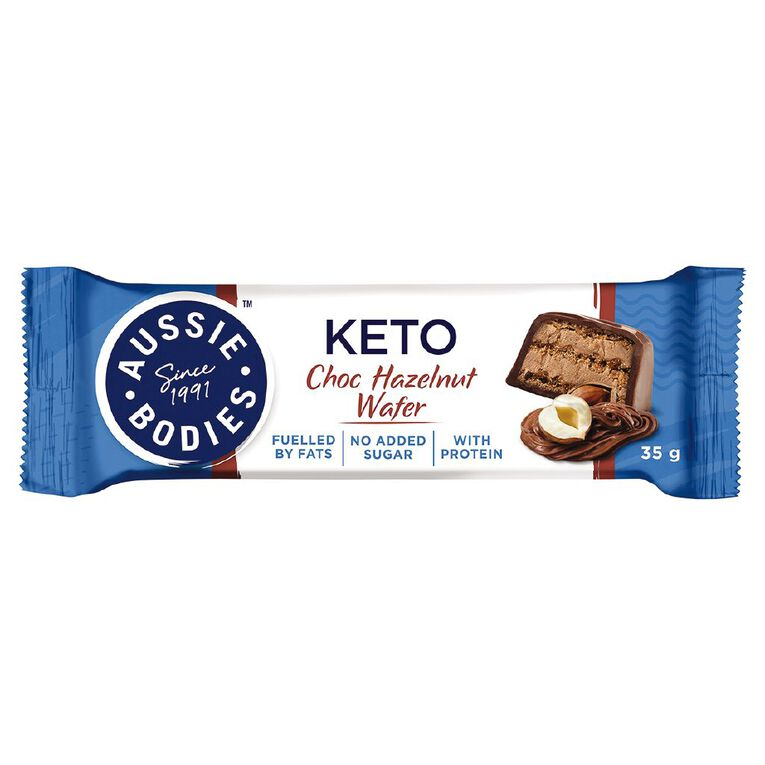 Aussie Bodies Aussie Bodies Keto Chocolate Hazelnut Wafer 35g, , hi-res
