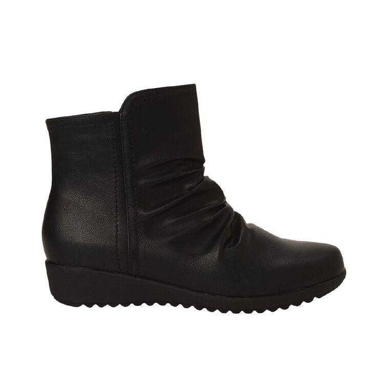 H&H Women's Ankle Comfort Boots, Black, hi-res