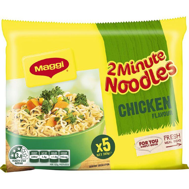 Maggi 2 Minute Noodles Chicken 5 Pack, , hi-res