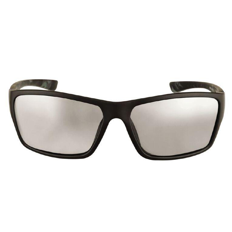 H&H Essentials Men's Polarised Mirror Sunglasses, Black, hi-res