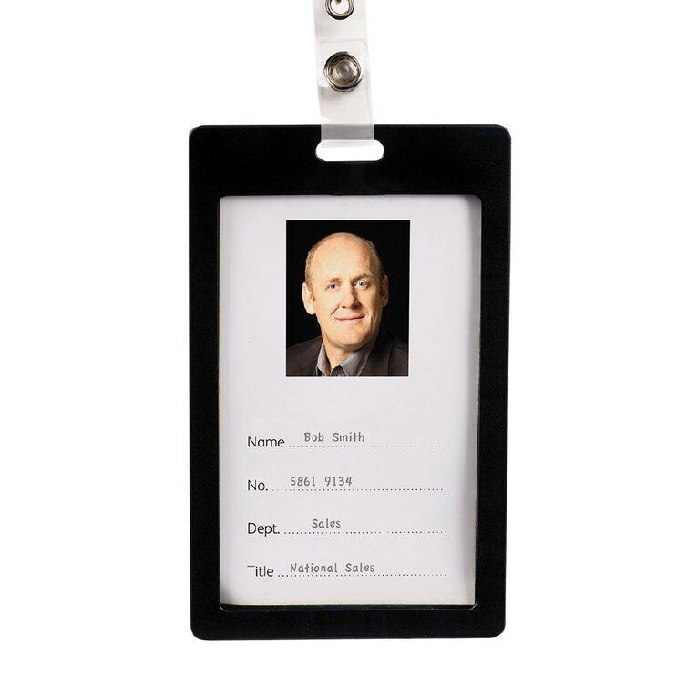 Rexel Portrait Card Holder Black 6 Pack, , hi-res