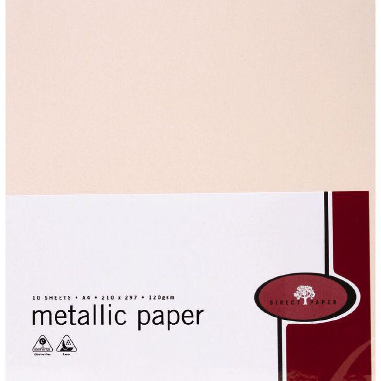 Direct Paper Metallic Paper 120gsm 10 Pack Coral A4, , hi-res