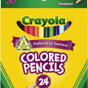 Crayola Colored Pencils Multi-Coloured 24 Pack