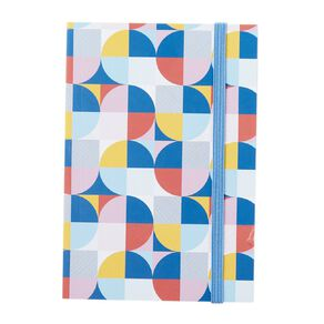 Uniti Geo Notebook With Elastic Multi-Coloured A6