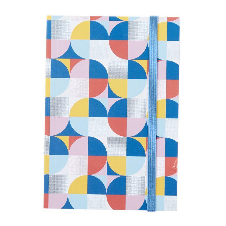 Uniti Geo Notebook With Elastic Multi-Coloured A6, , hi-res