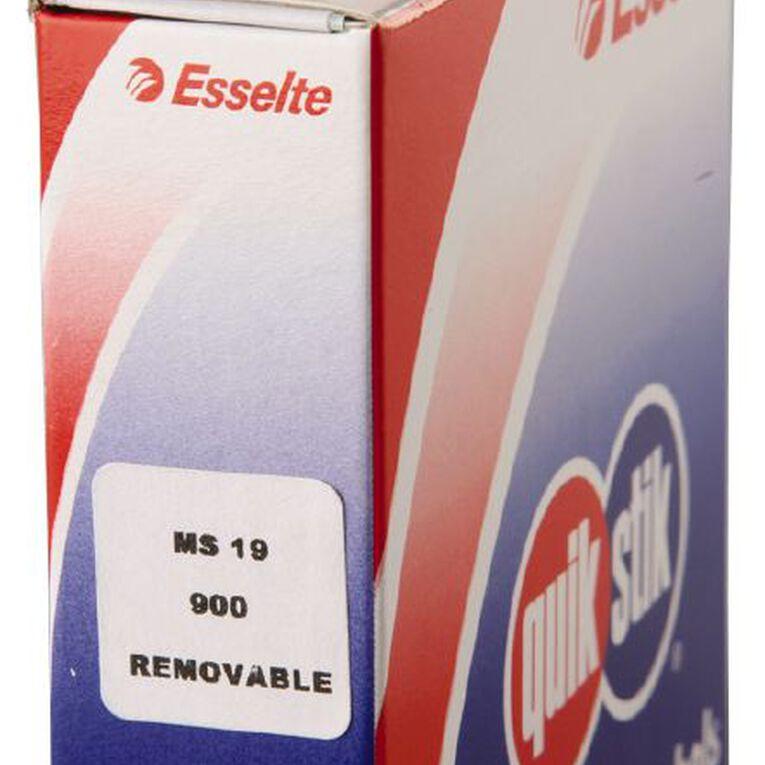 Quik Stik Labels Ms19 19mm x 19mm 900 Pack White, , hi-res