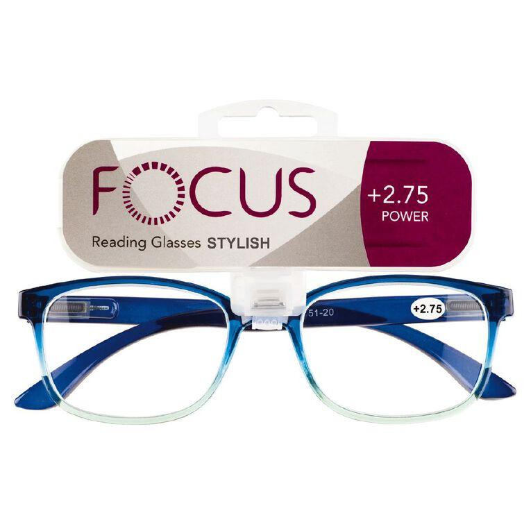Focus Reading Glasses Stylish Power 2.75, , hi-res