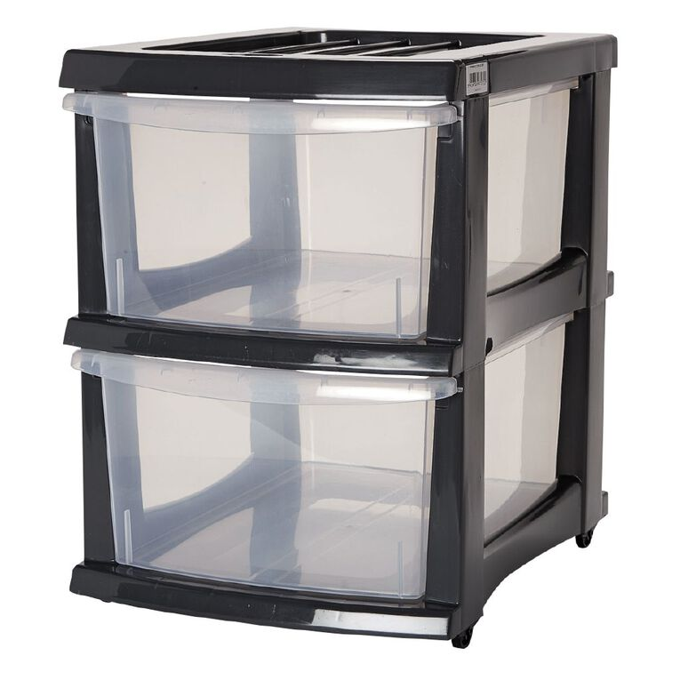 Taurus Storage Drawers Grey 2 Tier, , hi-res