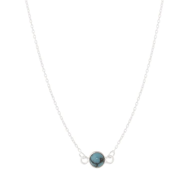 Sterling Silver Necklace Turquoise Charm, , hi-res