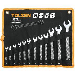 Tolsen Combination Spanner Set 12 Pack
