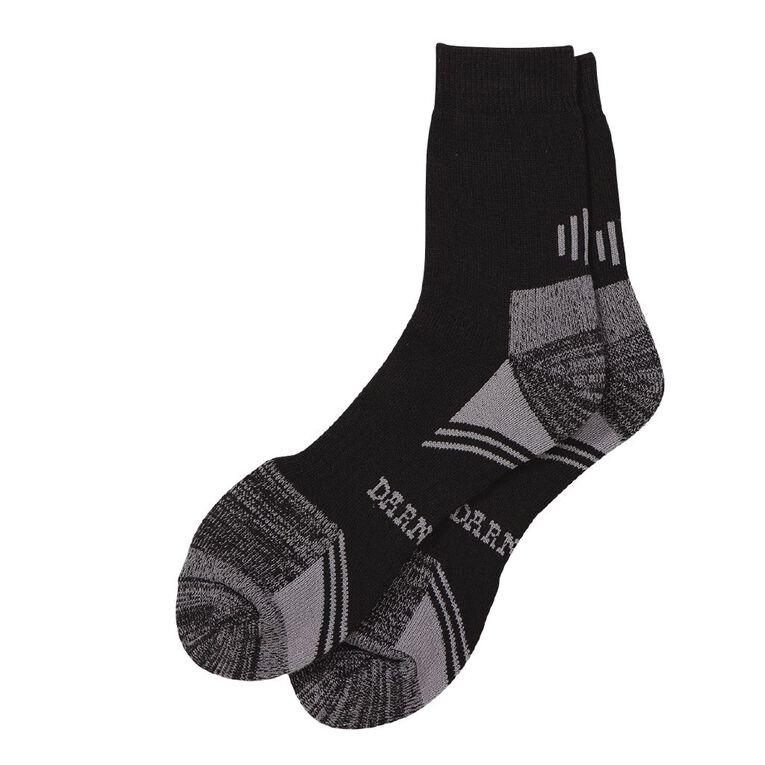 Darn Tough Men's Steelcap Boot Socks 2 Pack, Black, hi-res