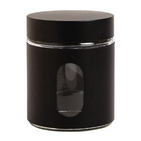 Living & Co Glass Canister Black 590ml