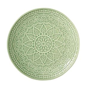Living & Co Glazed Moroccan Side Plate Sage Green