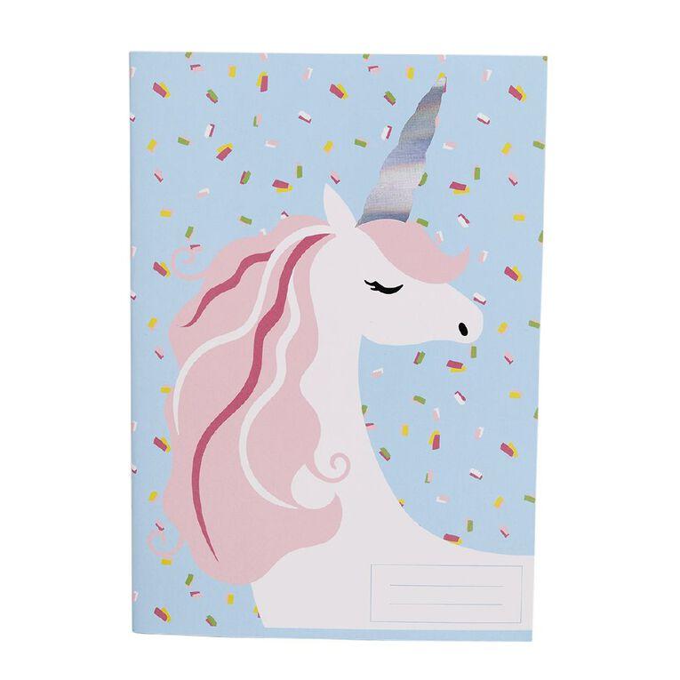 Kookie Bright Notebook Unicorn Blue Light A5, , hi-res