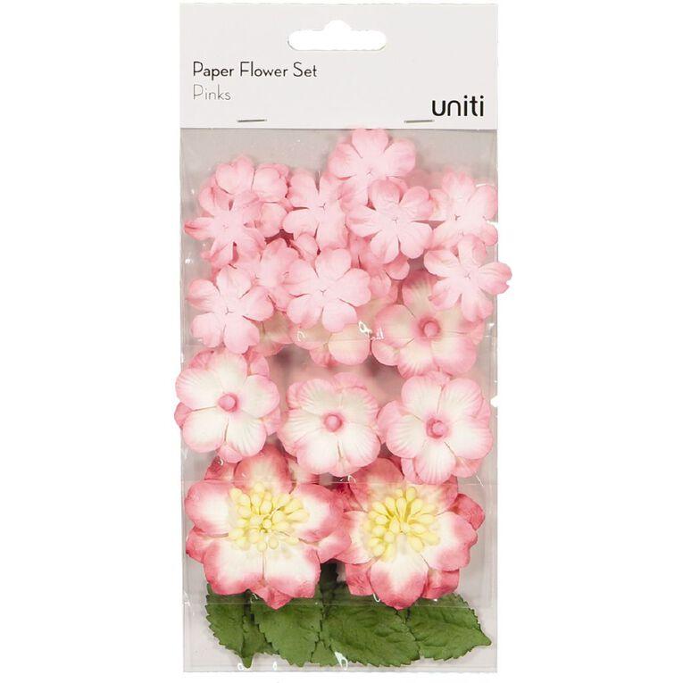 Uniti Paper Flower Set Pinks, , hi-res